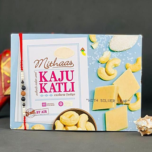 Lava Stone Rakhi With Kaju Katli: