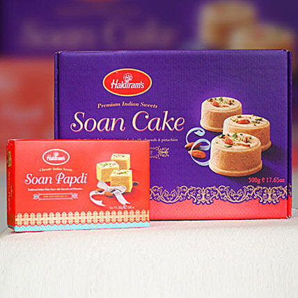 Soan Papdi With Soan Cake: Diwali Gifts Delivery in Australia