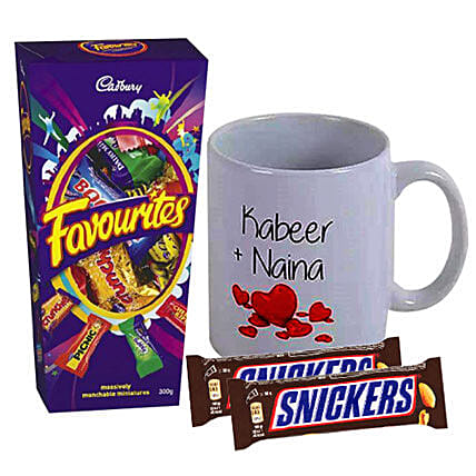 Love Personalised Mug With Chocolates: Send Personalised Gifts to Australia