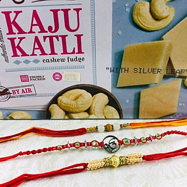 Ik Onkar Rakhi Set With Kaju Katli: Send Rakhi to Australia from India