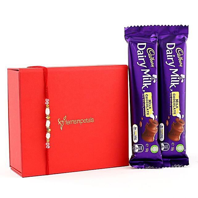 Rajaji Rakhi With Two Dairymilk Chocolates: Send Rakhi to Australia
