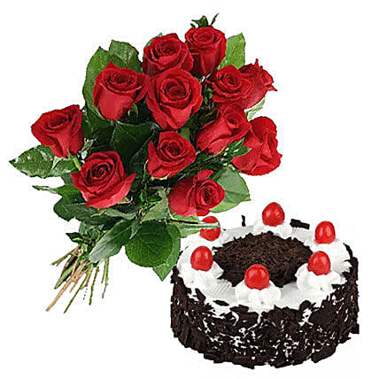Black Forest Cake N Roses Send Flowers To Canada