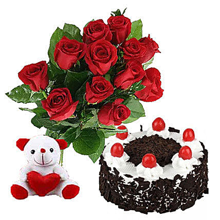 Valentine Black Forest Combo: Send Gift to Canada Same Day Delivery