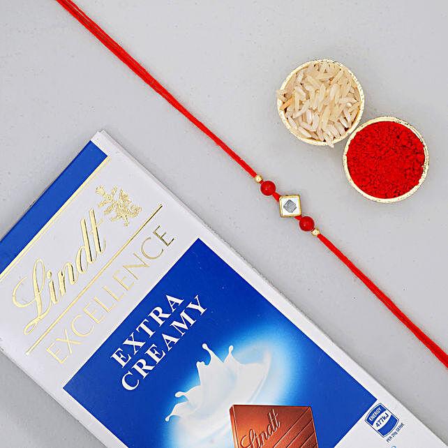 Designer Rakhi N Lindt Chocolate: Rakhi Delivery in Canada