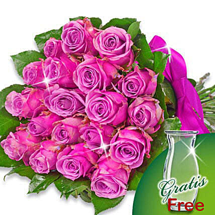 Bunch of 20 purple roses: Birthday Flower Delivery in Germany