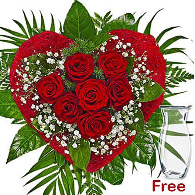 Romantic Rose Arrangement: Send Flower Bouquet to Germany