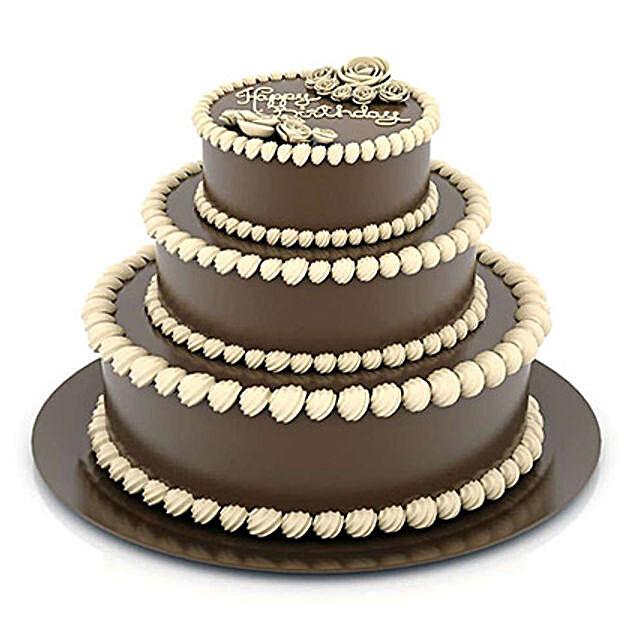 3 Tier Delicious Truffle Cake: Multi Tier Cakes