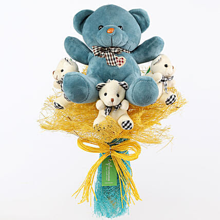 Adorable Teddy Bouquet: Soft Toys Gifts