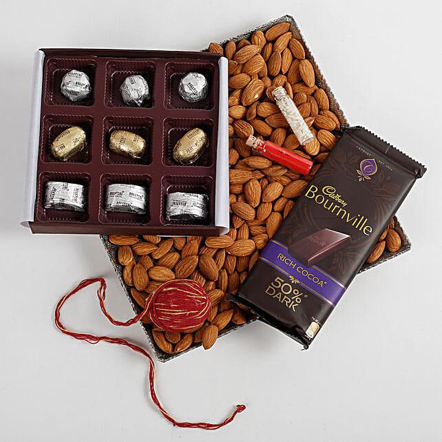 Almonds & FNP Signature Chocolates Hamper: