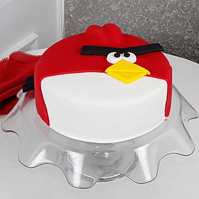 Angry Bird Fondant Cake Birthday Cakes For Kids