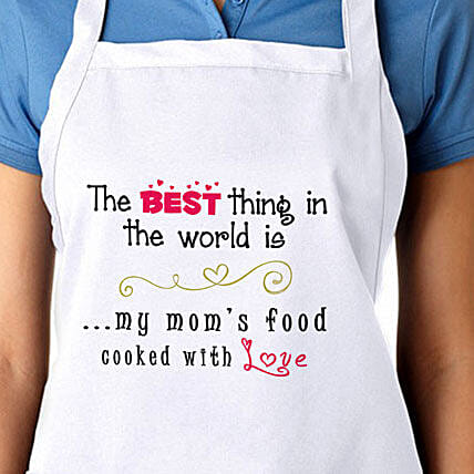 Apron For My Moms Food With Love: Apparel Gifts