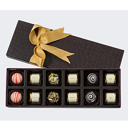 Assorted Chocolate in Designer Box- 12 Pcs: Chocolate Gifts in India