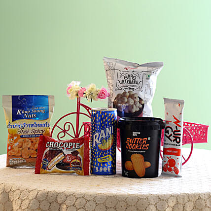 Assorted Healthy Snack Hamper: Gourmet Gifts
