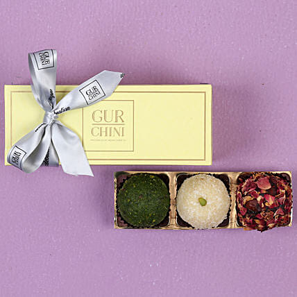 Assorted Laddu In Pastel Green Mithai Box: Buy Sweets