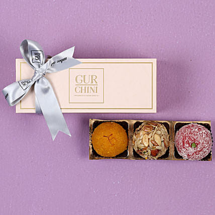 Assorted Laddu In Pink Box- 250 gms: Buy Sweets