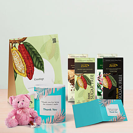 Assorted Zevic Chocolates Thank You Hamper: Thank You Gifts