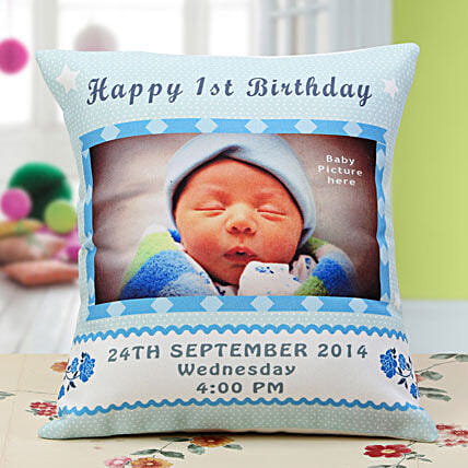 Baby Announcement Personalized Cushion: Cushions