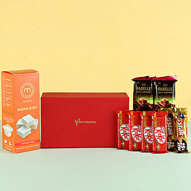 Badam Burfi Festive Gift Hamper: Send Gifts for Dussehra