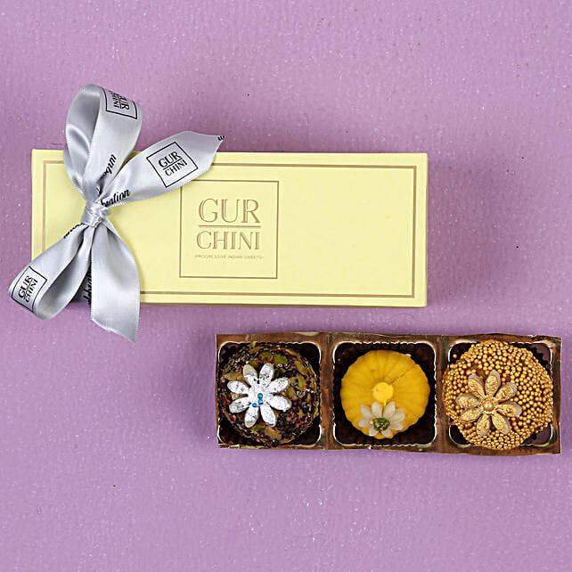 Badam Caramel & Kesar Modak Box- 250 gms: Buy Sweets