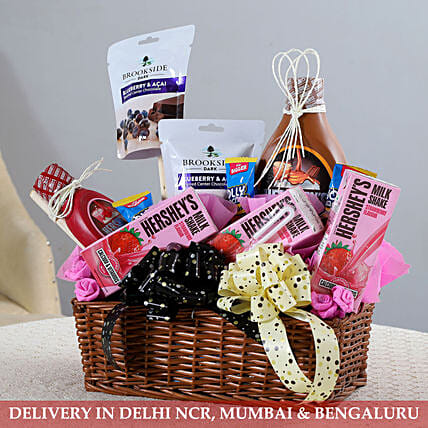 Basket Of Delicious Goodies: Send Diwali Gift Hampers