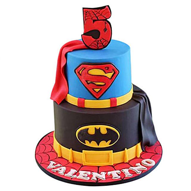 Batman N Superman Cake: Batman Theme Cakes