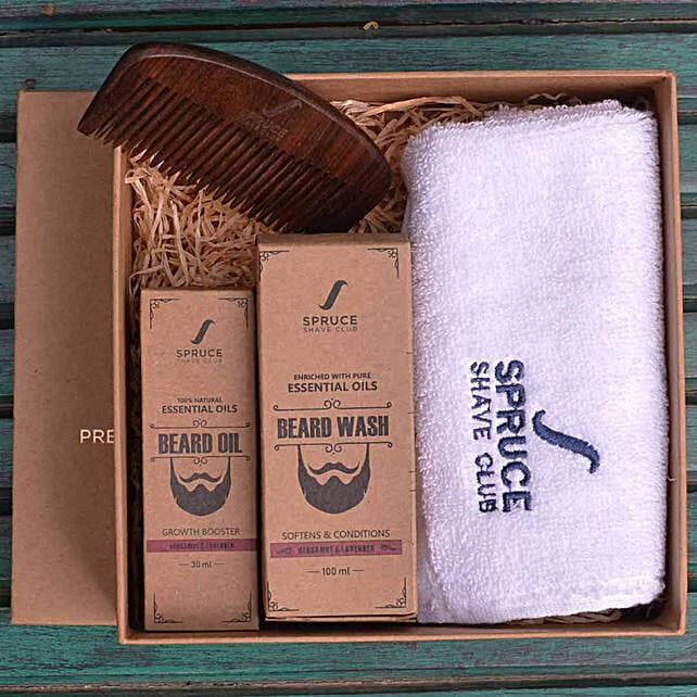 Beard Care Bundle- Bergamot & Lavender: Gift Hampers