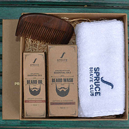 Beard Care Bundle- Cedarwood & Mandarin: Gift Hampers