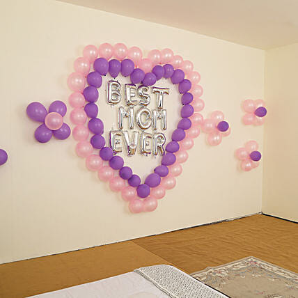 Beautiful Best Mom Ever Balloon Decor: Balloons Decorations