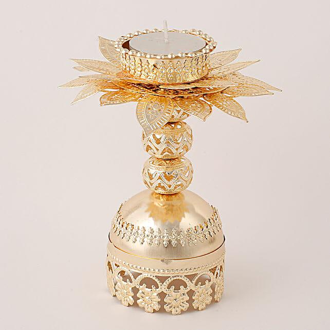 Beautiful Golden T Light Holder: