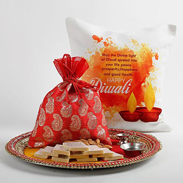 Beautiful Red Potli Happy Diwali Hamper: Diwali Unique Gifts