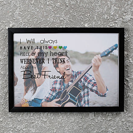 Best Friend PersonalizedFrame: Personalised Friendship Day Gifts