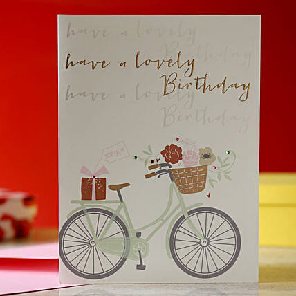 Birthday Bicycle Greeting Card: Buy Greeting Cards