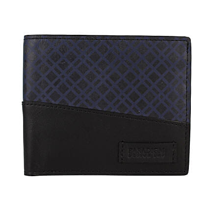 Black And Blue Wallet For Men: Handbags and Wallets