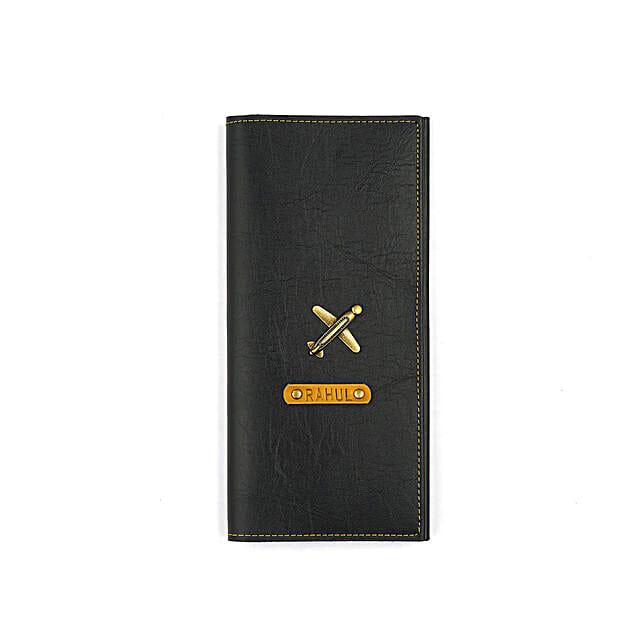 Black Travel Folder: Fashion Accessories