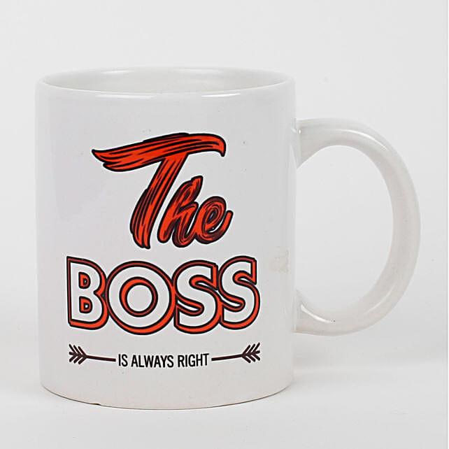 Boss Is Right Ceramic Mug: Gift For Boss