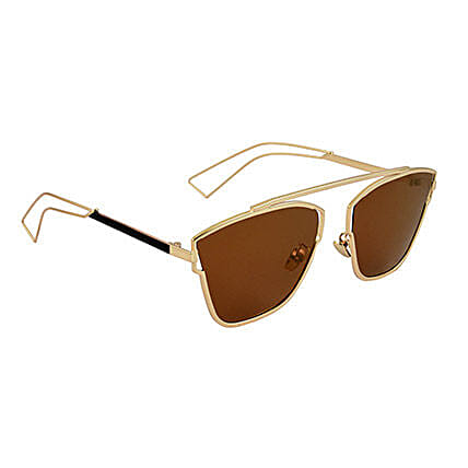 Brown Square Unisex Sunglasses: Sunglasses Gifts