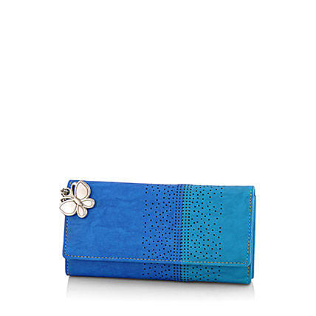 Butterflies Beautiful Blue Wallet: Buy Handbags