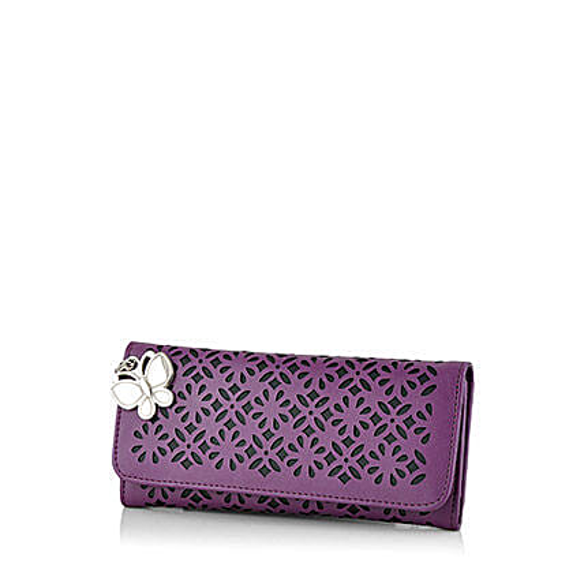 Butterflies Ravishing Purple Wallet: Buy Handbags