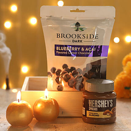 Candles & Brookside Chocolate Box: Gift Combos