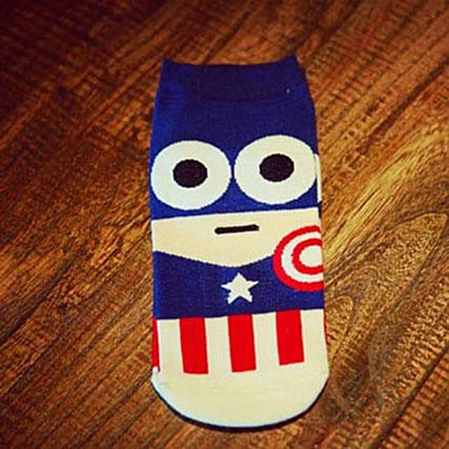 Captain America Ankle Length Socks: Apparel Gifts