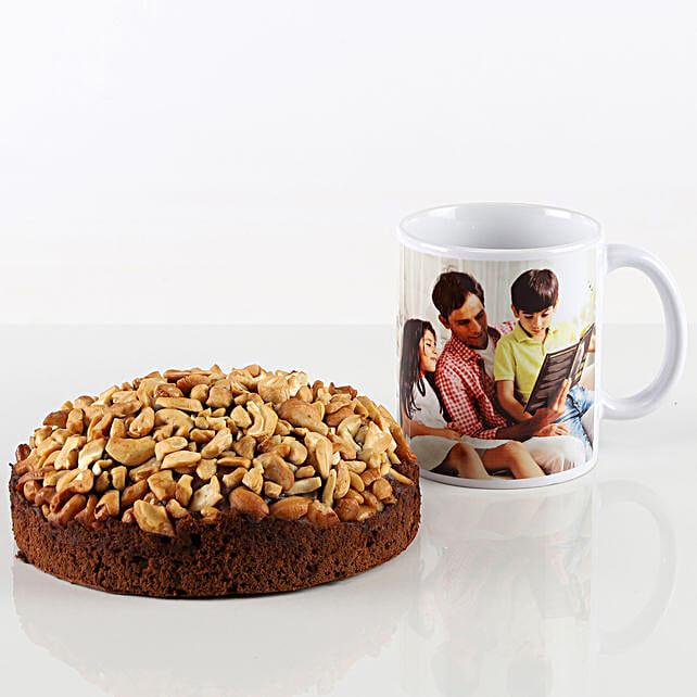 Cashew Dry Cake & Personalised Mug Combo: Gift Combos