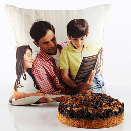 Chocochip Dry Cake & Personalised Cushion Combo: Combo Gifts