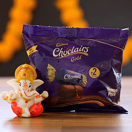 Chocolairs Gold & Ganesha Idol: Cadbury Chocolates