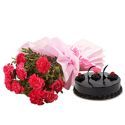 Chocolate Cake N Flowers Hyderabad Gifts