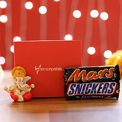 Chocolates & Lord Ganesha Idol: Gifts to India