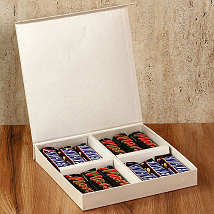 Chocolaty White Gift Box: Thinking Of You