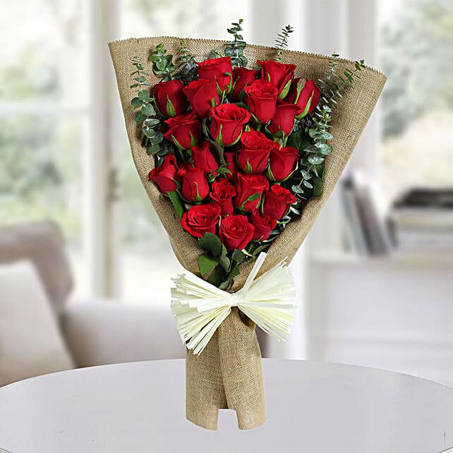 Classic Red Roses Bunch: Designer Bouquet