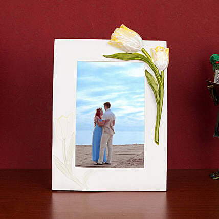 Classic White Resin Photo Frame: Personalised Photo Frames