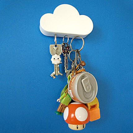 Cloud Magnetic Keychain Holder: Funny Gifts
