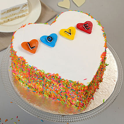Colourful Love Cake: Heart Shaped Gifts